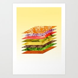 install-a-burger Art Print