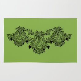 Vintage Lace Hankies Greenery Rug