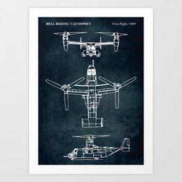 BELL BOEING V-22 OSPREY -1989 Art Print