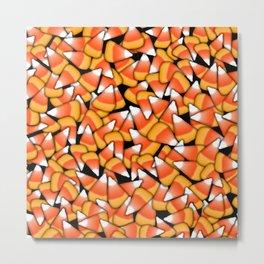 Candy Corn Pattern Metal Print