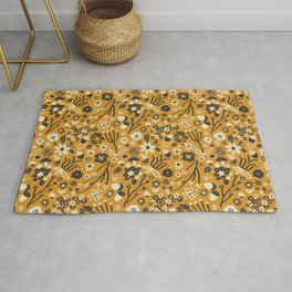Freestyle Fall Floral in Ochre Rug
