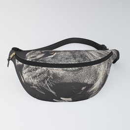 Angry Male Lion Fanny Pack