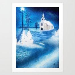 Christmas Serenade Art Print