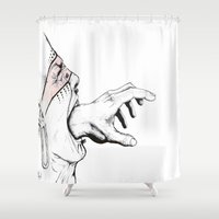 anxiety Shower Curtains featuring Anxiety by EL Pablo