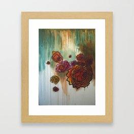 Rose Cluster in progress Framed Art Print