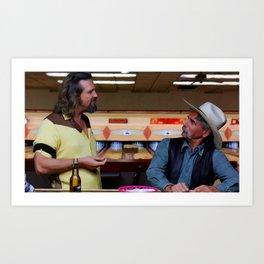Jeff Bridges & Sam Elliot @ The Big Lebowski (Joel and Ethan Coen - 1988) Kunstdrucke