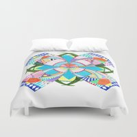 arab Duvet Covers featuring Blossom by Heaven7