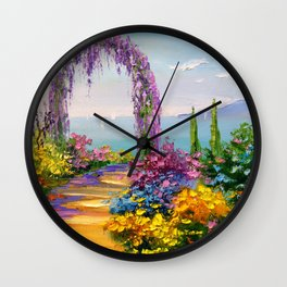 Blooming arch Wall Clock