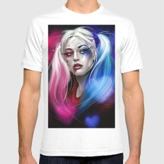 Harley Quinn White Mens Fitted Tee X-LARGE