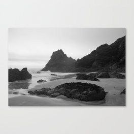 Mist Rolling in at Kynance Cove Canvas Print