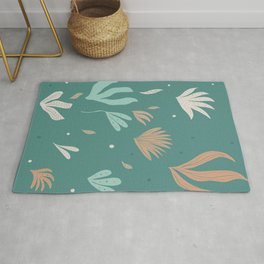 Underwater Leaves Jungle #2 #kids #decor #art #society6 Rug