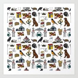 Maryland Pattern Art Print
