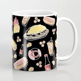 Skyline Chili Pattern Black Coffee Mug