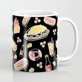 Skyline Chili Pattern Black Coffee Mug