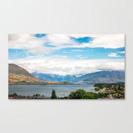 Cloudy summer day at Wanaka, New Zealand Canvas Print