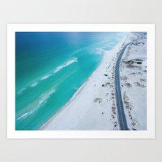 Ocean road paradise Art Print