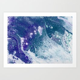 Purple and Teal Whisper Art Print