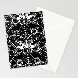 Mystical Oriental Floral Lotuses Boho Bohemian Hipster Stationery Cards