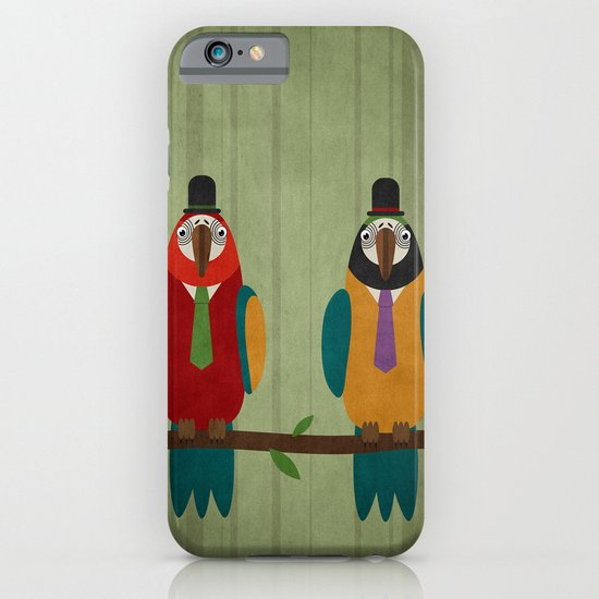 Suited parrots iPhone & iPod Case