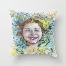 Giggle Throw Pillow