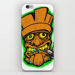 Cocktail Weenie and the Tiki Hut iPhone Skin