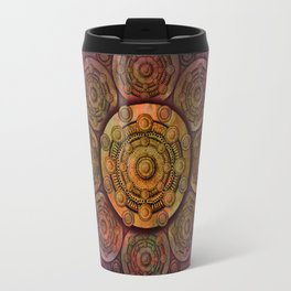 """Purple Mulberry violet shades & Gold Metal Mandala (pattern)"" Travel Mug"
