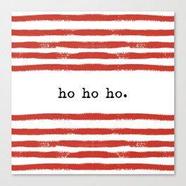 red stripes-ho ho ho Canvas Print