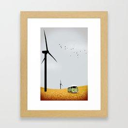 green wagon Framed Art Print