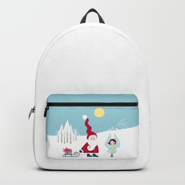 Santa and the little Angel Backpack