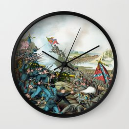 The Battle of Franklin Wall Clock