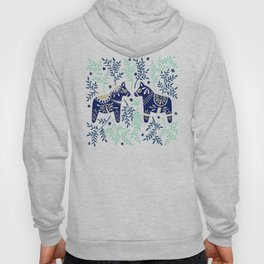 Swedish Dala Horse – Navy & Mint Palette Hoody