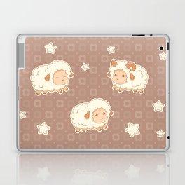 Cute Little Sheep on Brown Laptop & iPad Skin