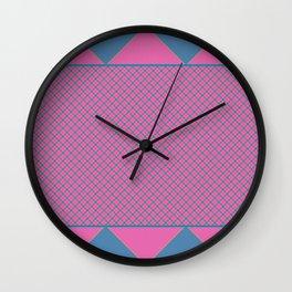 Bright Plaid Wall Clock