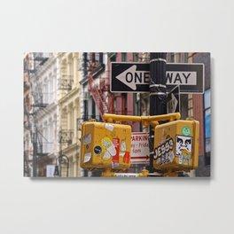 Colorful Streets of SoHo, NYC Metal Print