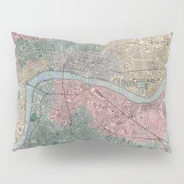 Vintage Map of London England (1865) Pillow Sham
