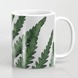 Botanical Forest Sage Green Vintage Leaf Fern, Watercolor Wall Art Farmhouse Rustic Country Nature Coffee Mug