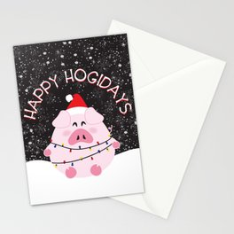 Happy Hogidays Stationery Cards