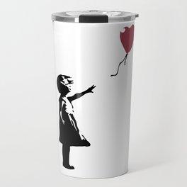 Girl With Red Balloon, Banksy, Streetart Street Art, Grafitti, Artwork, Design For Men, Women, Kids Travel Mug