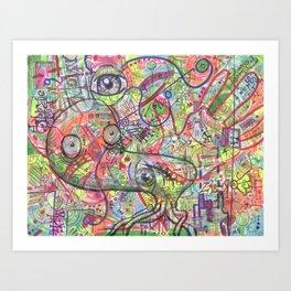 Basura Cerebro Art Print