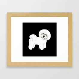 Bichon Frise Dog classic black, Christmas gift, holiday gift for dog lovers, Bichon, Bijon Framed Art Print
