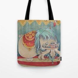 DANCING SCAREDY MONSTER Tote Bag