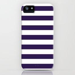 dark purple stripes iPhone Case