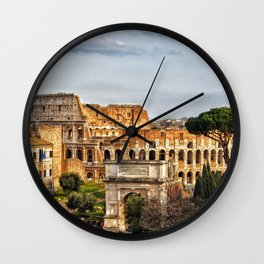 Roman Coliseum, Rome, Italy. Wall Clock