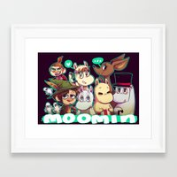 moomin Framed Art Prints featuring Moomin by lemonteaflower