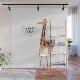 Love Giraffe Wall Mural