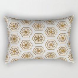 Gold Flower Rectangular Pillow