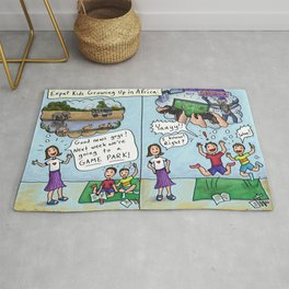 Going to a Game Park With Kids -African Mix-Ups Rug