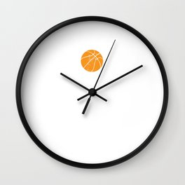 Basketball Player Heartbeat Heart Wants To Play Basketball Wall Clock