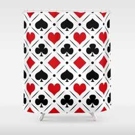 Playing card suits symbols Shower Curtain