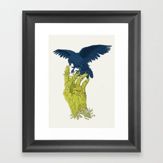 Corvo-papa-zumbi Framed Art Print